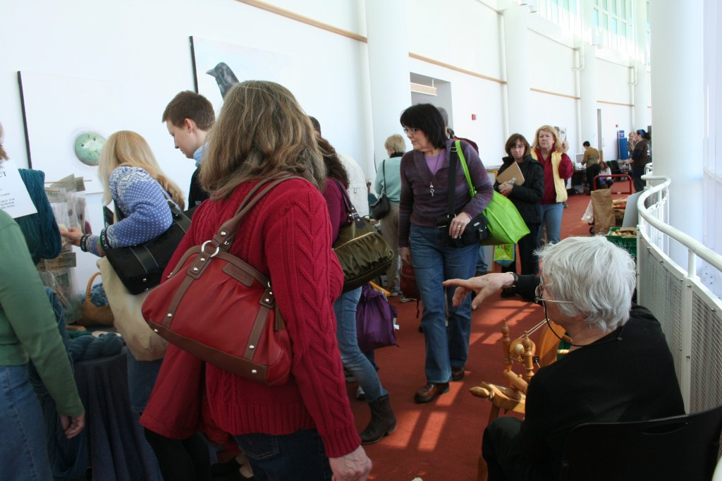 The turnout was good. Conference-goers on a break. Photo © Moo Dog Press Magazine
